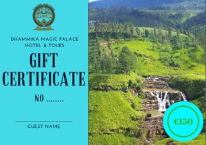 Gift Certificate Dhammika Magi Palace Hotel & Tours